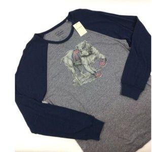 Mens Lucky Brand Bristish Bulldog T-shirt New